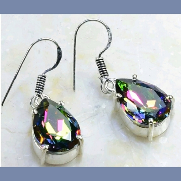 Mystical Topaz Handcrafted 925SS Earrings